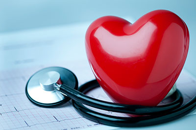 image of a heart and stethoscope