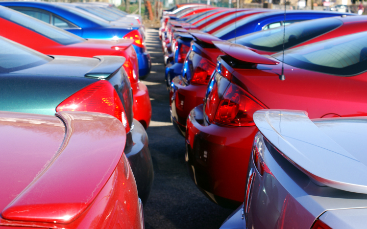 image of cars on a car lot