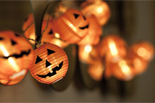 image of jack o lantern lights