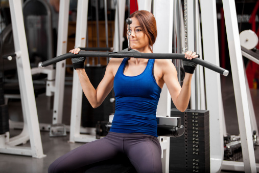 image of woman working out in gym