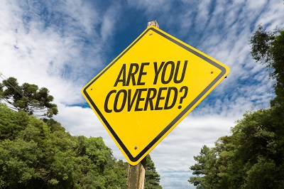 image of are you covered sign