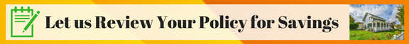 image of banner ad for home insurance policy review